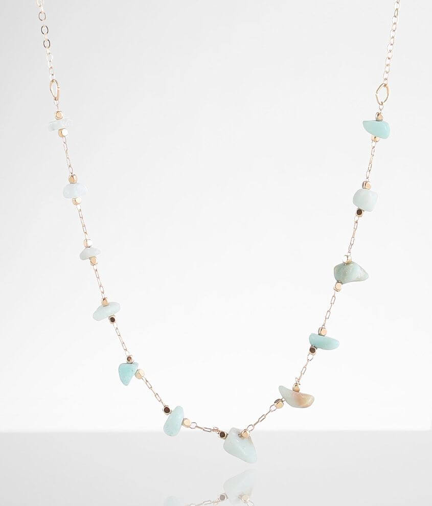 BKE Dainty Stone Necklace front view