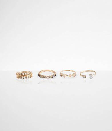 BKE Stone Ring 4 Pack Set