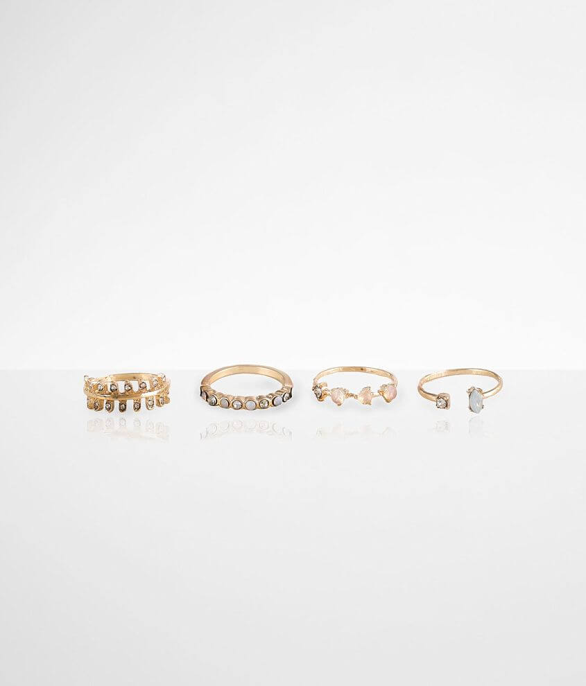 BKE Stone Ring 4 Pack Set front view
