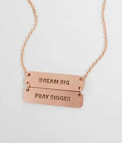 JAECI Dream Big Pray Bigger Necklace