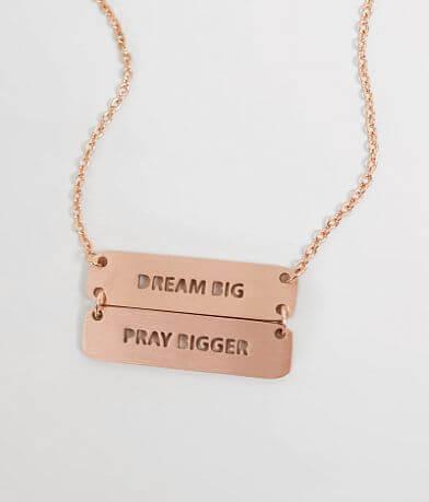 JAECI Dream Big Pray Bigger Necklace