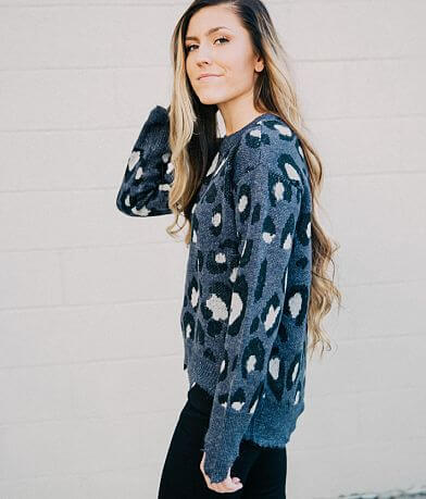 Free Generation Cheetah Pullover Sweater