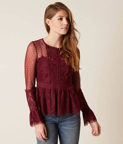 Romeo + Juliet Couture Lace Blouse