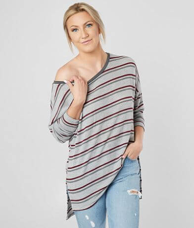 Daytrip Open Weave Striped Top