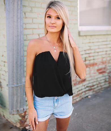 Willow & Root Surplice V-Wire Tube Top
