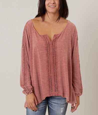 Ivory Love Slub Fabric Top