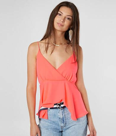 Willow & Root Neon Peplum Tank Top