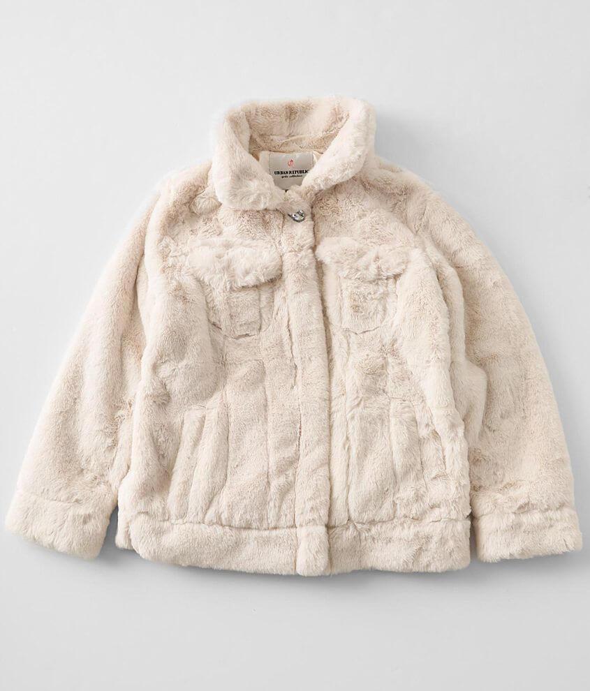 Girls - Urban Republic Faux Fur Jacket front view