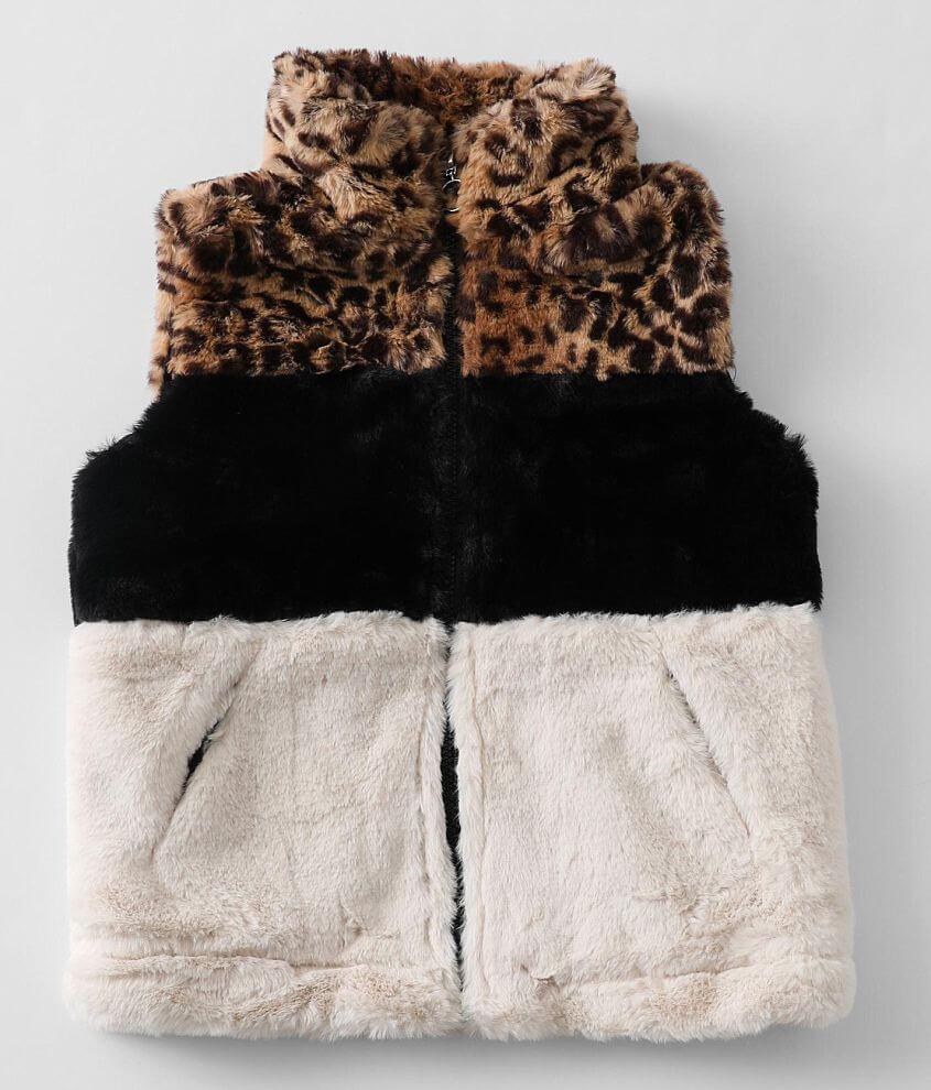 Girls - Urban Republic Jag Faux Fur Vest front view