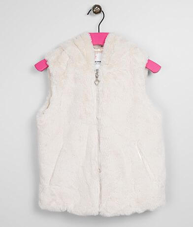 Girls - URBAN REPUBLIC Hooded Faux Fur Vest