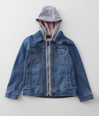 Girls - Urban Republic Hooded Denim Jacket