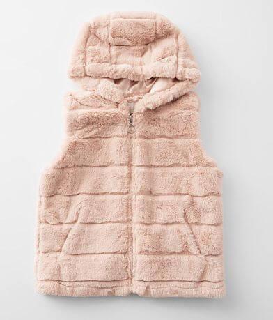 Girls - Urban Republic Hooded Faux Fur Vest