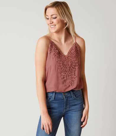 willow & root Bubble Hem Tank Top