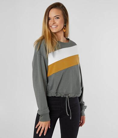 FITZ + EDDI Color Block Cropped Sweatshirt