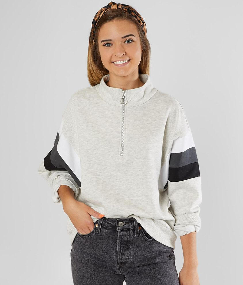 Modish Rebel Color Block Pullover front view