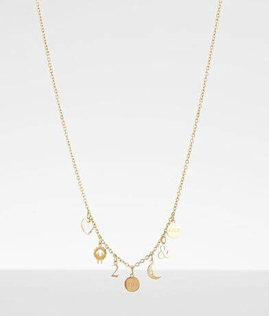 JAECI Love You To The Moon & Back Rebus Necklace