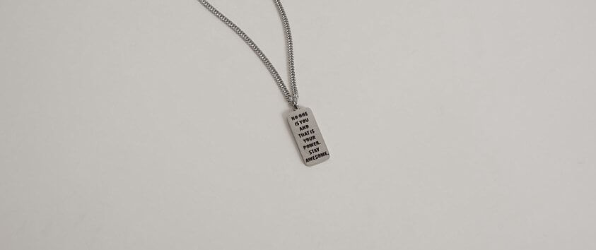 JAECI No One Is You Necklace front view