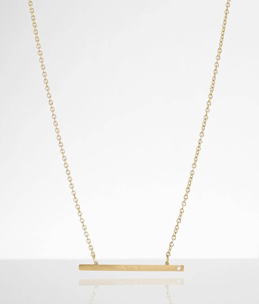 JAECI God Is Greater Bar Necklace front view