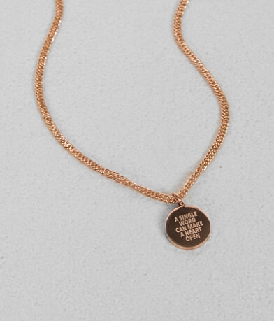JAECI A Single Word Necklace