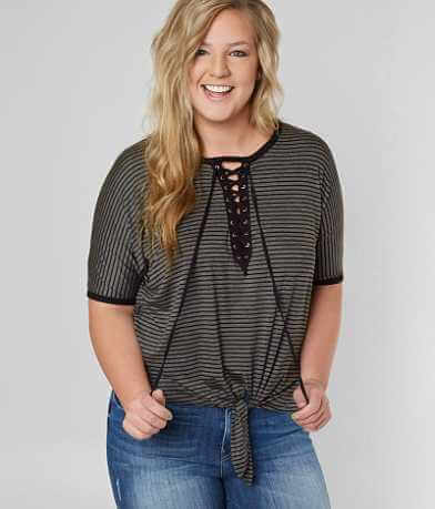 Daytrip Front Tie Top - Plus Size Only