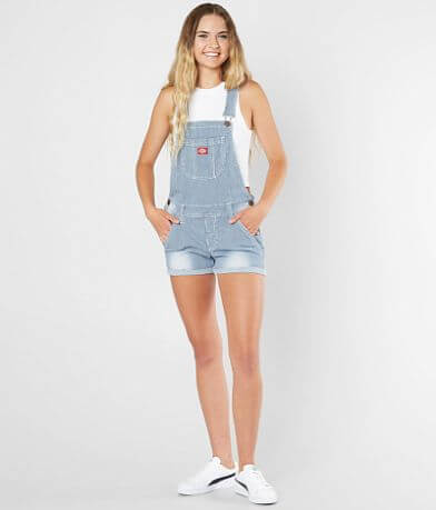 Dickies® Pinstripe Stretch Overall Short