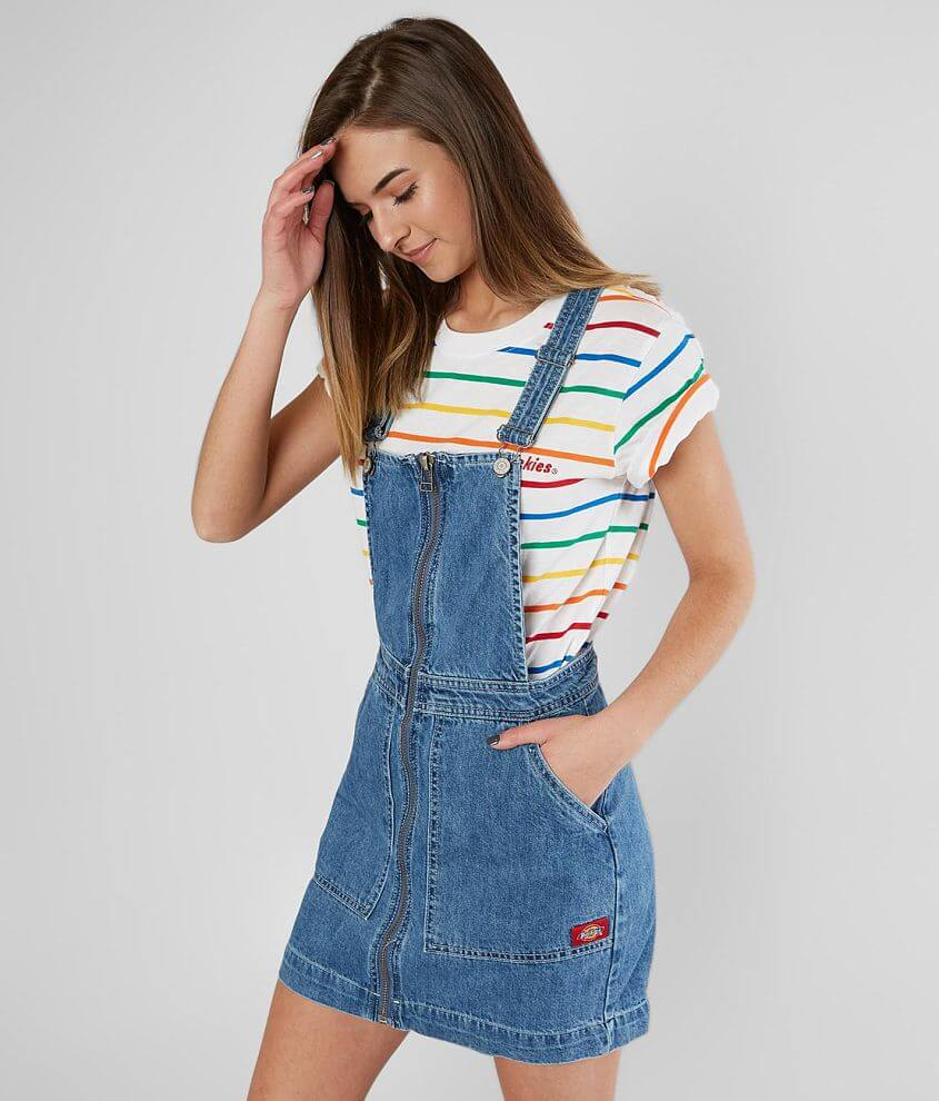 Dickies® Denim Overall Dress front view
