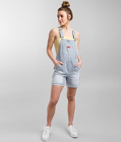 Dickies® Carpenter Striped Overall Shorts
