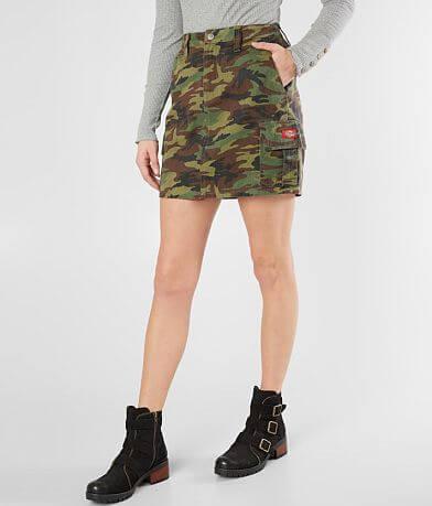 Dickies® Twill Camo Cargo Skirt