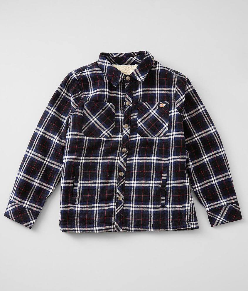 Boys - Dickies® Plaid Shacket front view