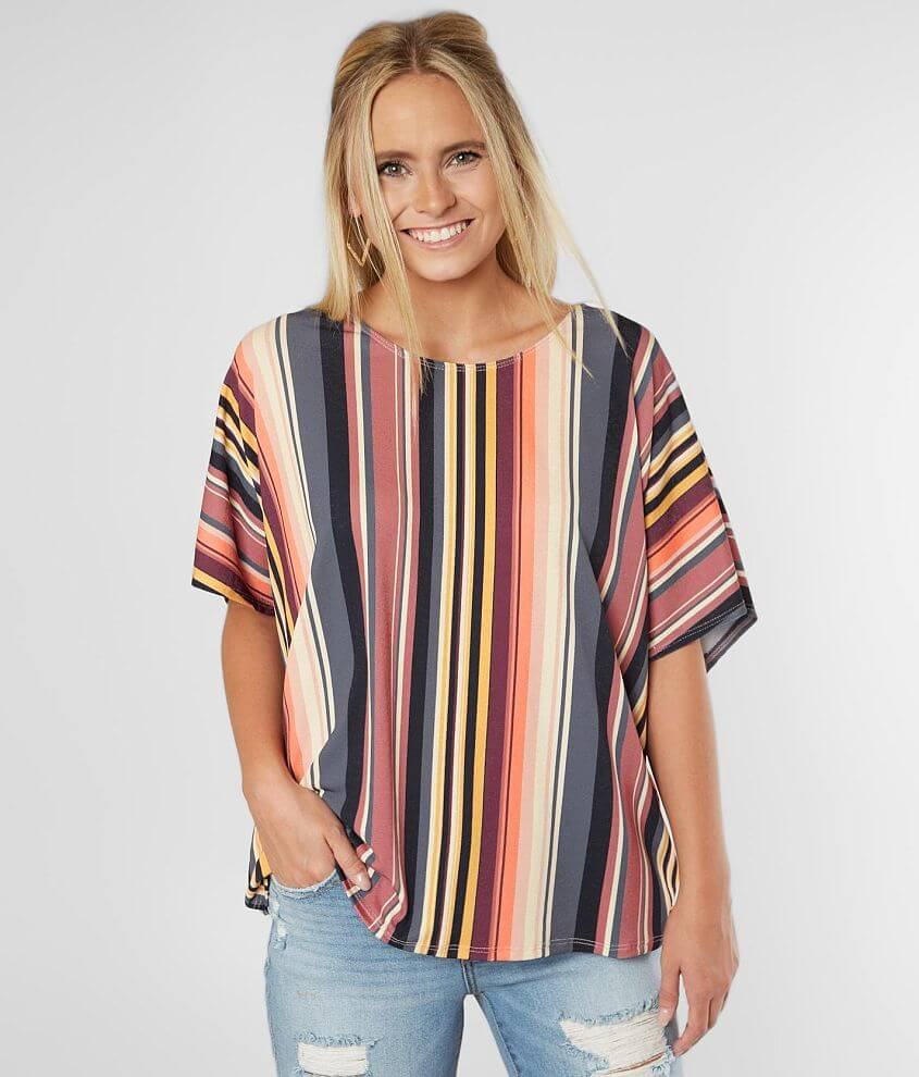 Willow & Root Striped Top front view