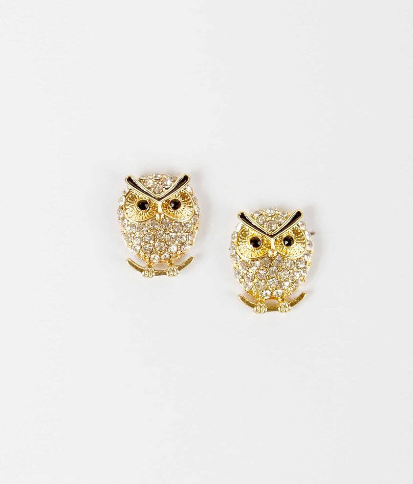 Daytrip Glitz Owl Earring front view