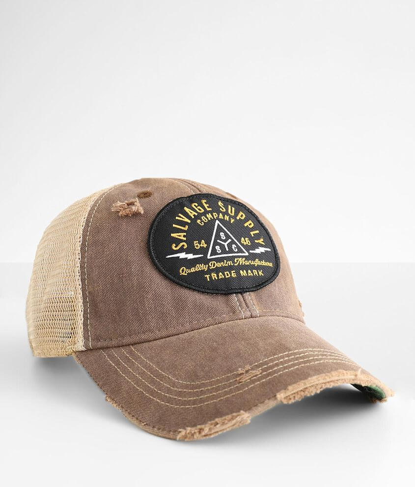 Salvage New Order Trucker Hat front view