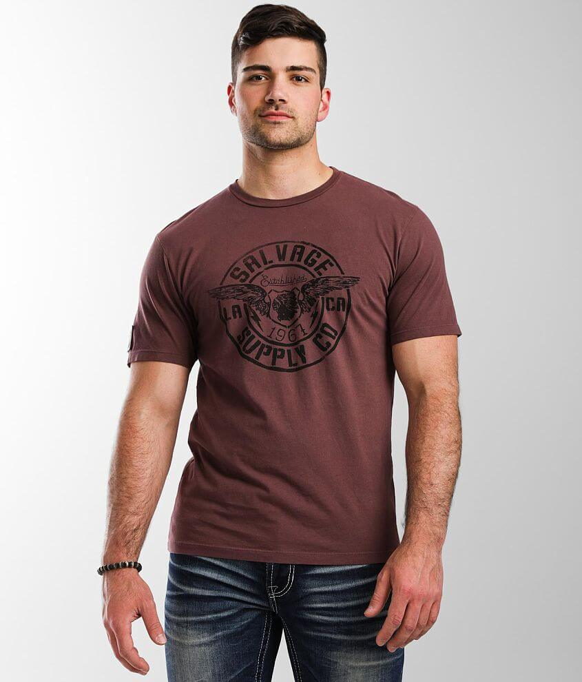 Salvage Winged Stamp T-Shirt front view