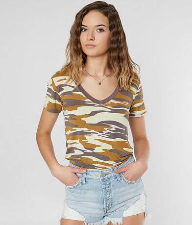 FITZ + EDDI Camo Knit Top