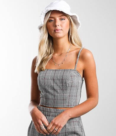 Gilded Intent Plaid Tank Top