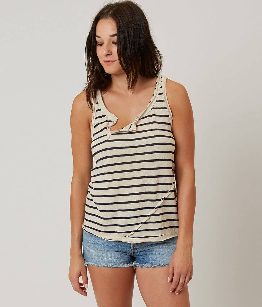 Gilded Intent Striped Tank Top front view