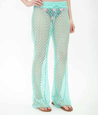 BKE resort Laser Cut Swim Cover-Up Pant