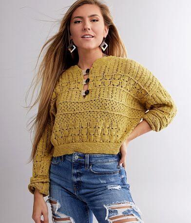 BKE Pullover Henley Sweater