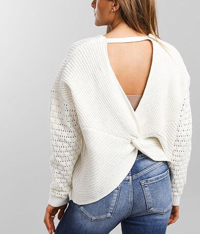 Daytrip Twisted Back Chenille Sweater