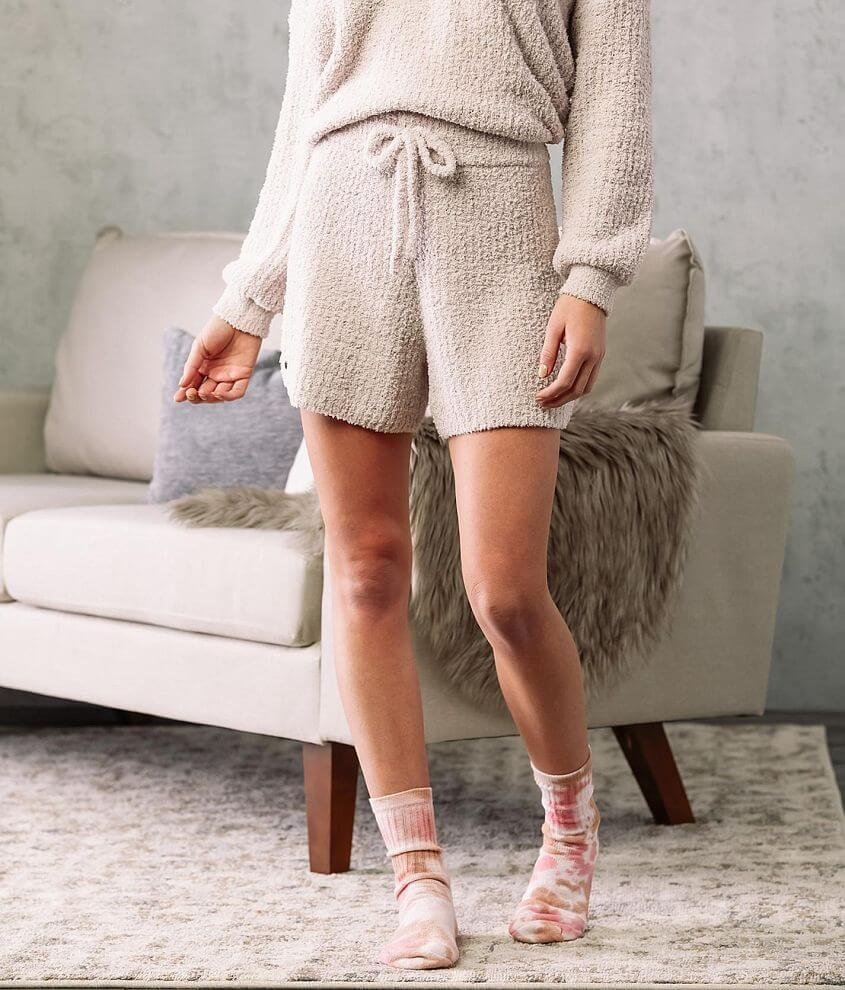 Fade by BKE Ribbed Fuzzy Knit Short front view
