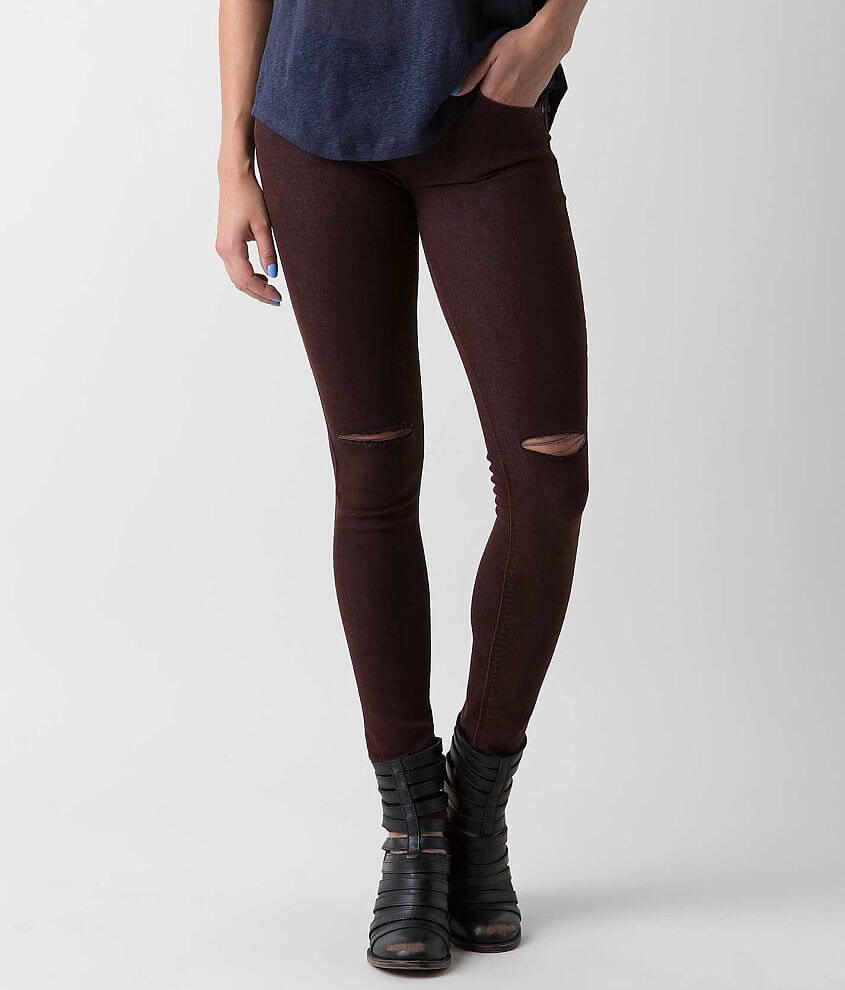 ceaf559f4c05 JUST BLACK Skinny Stretch Jean - Women s Jeans in Burgundy