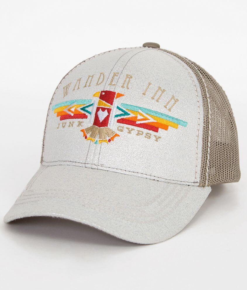 Junk Gypsy Wander Inn Trucker Hat front view