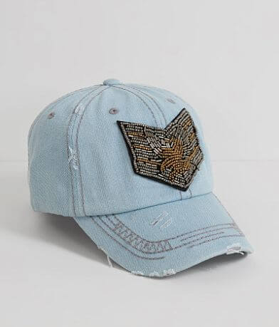 Beaded Military Baseball Hat