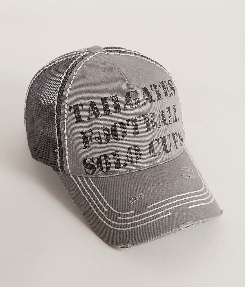 Tailgates, Football, Solo Cups Trucker Hat