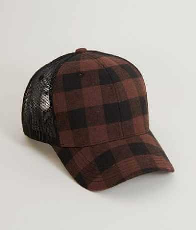 Buffalo Plaid Trucker Hat
