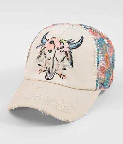 Junk Gypsy Floral Skull Baseball Hat