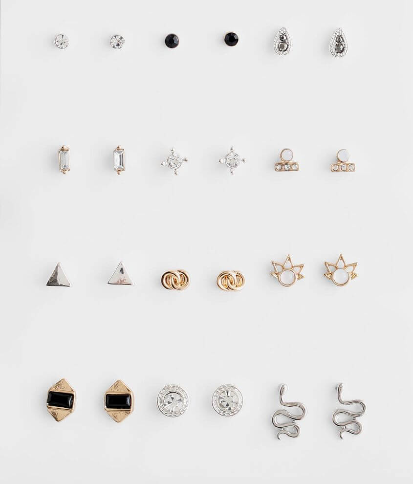 BKE 12 Pack Dainty Earring Set front view