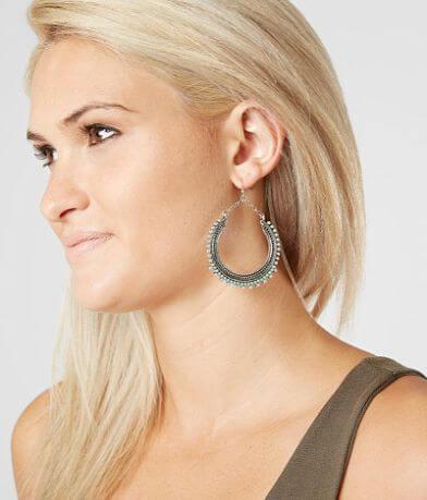 BKE Turquoise Hoop Earring