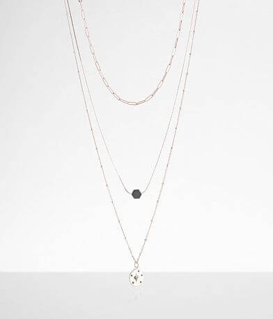 BKE Layered North Star Necklace Set