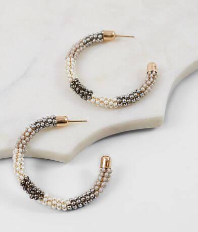 BKE Beaded Hoop Earring